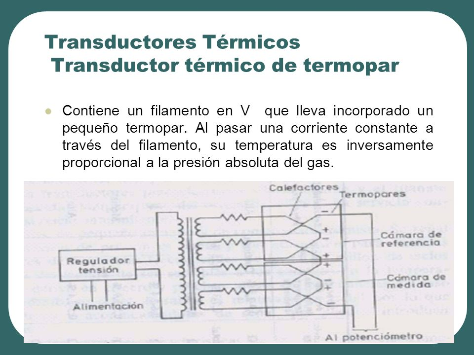 Transductores Térmicos Transductor térmico de termopar