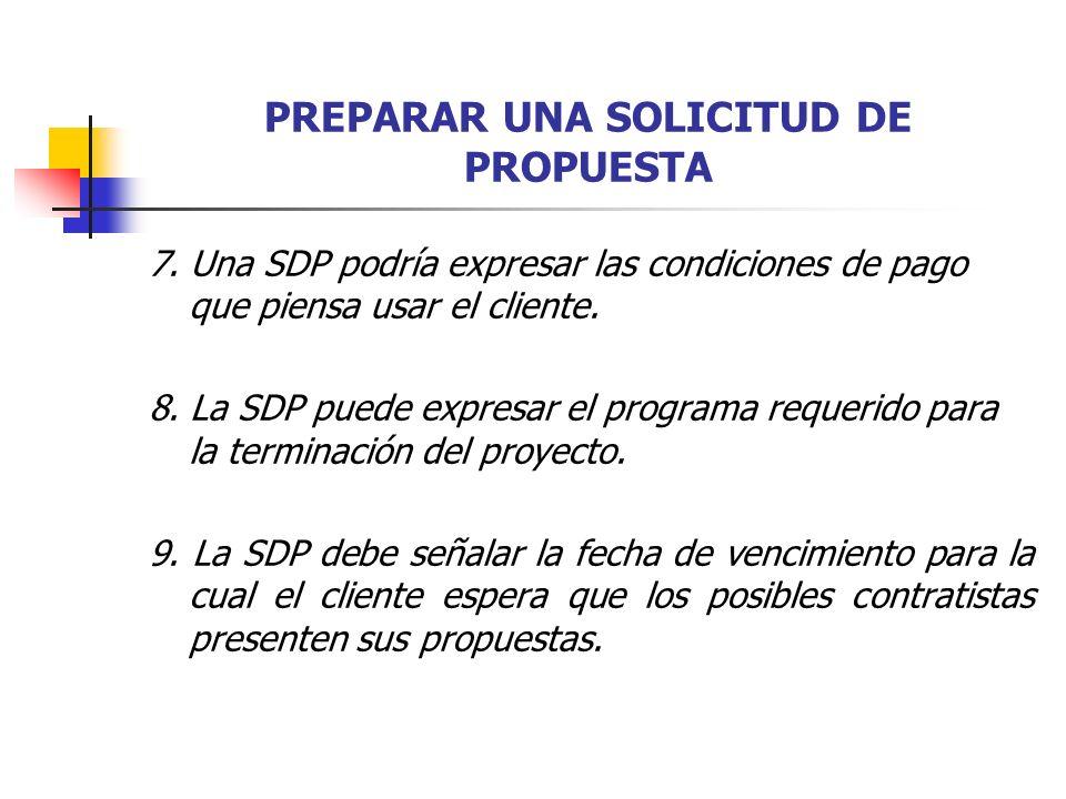 PREPARAR UNA SOLICITUD DE PROPUESTA