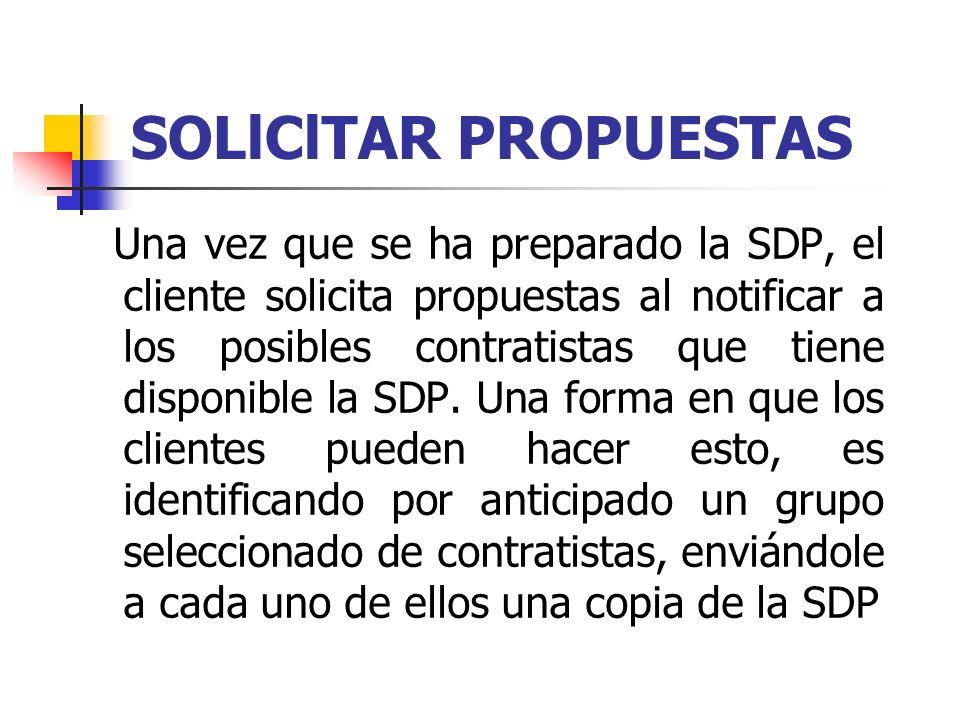 SOLlClTAR PROPUESTAS