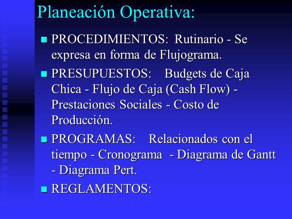 Planeación Operativa: