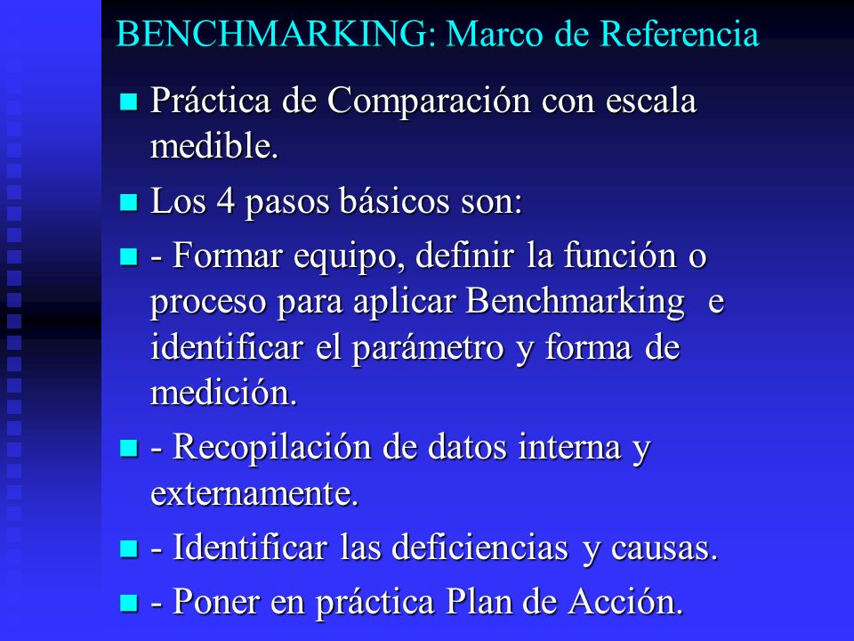 BENCHMARKING: Marco de Referencia