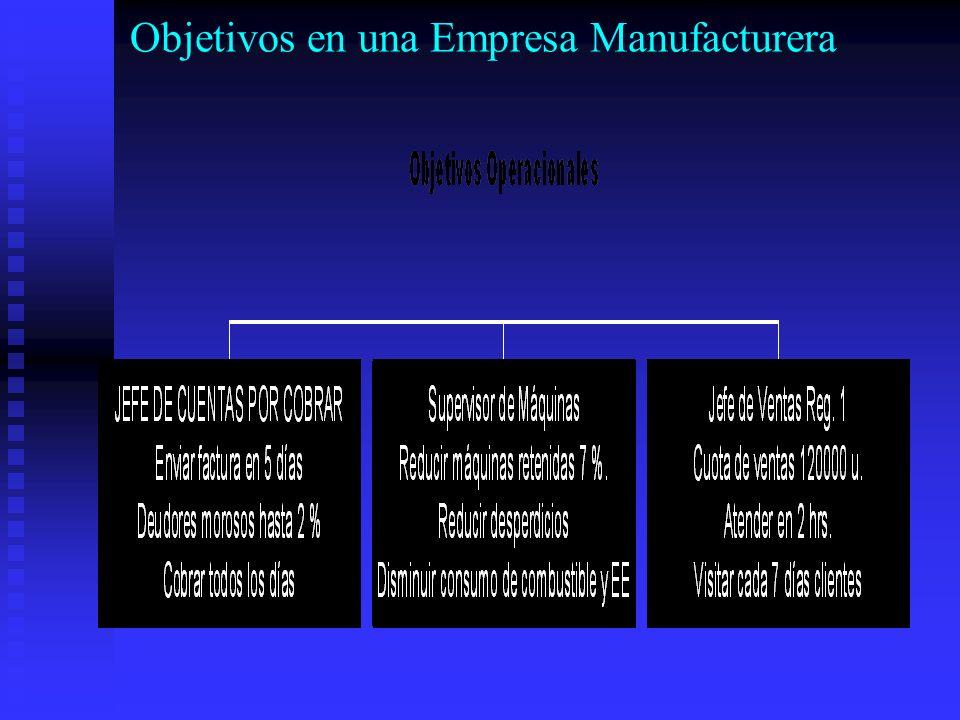Objetivos en una Empresa Manufacturera