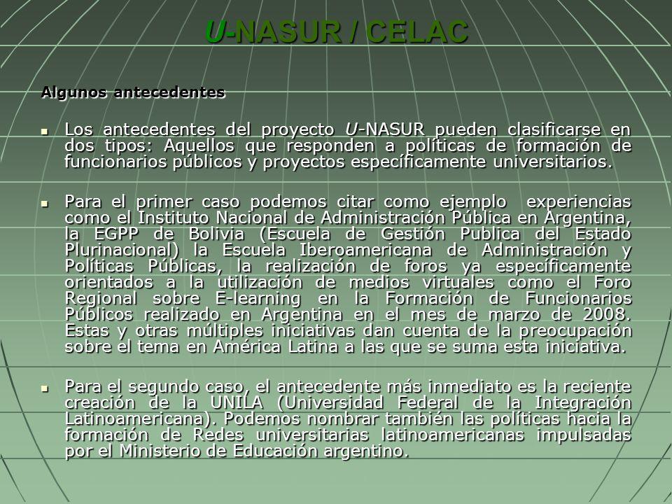 U-NASUR / CELAC Algunos antecedentes.