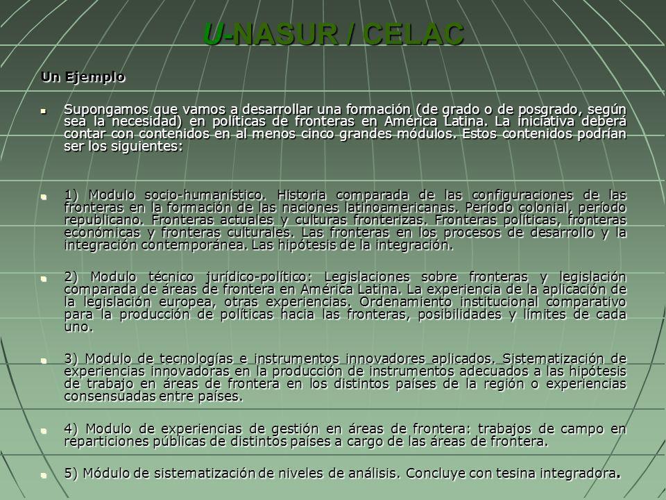 U-NASUR / CELAC Un Ejemplo