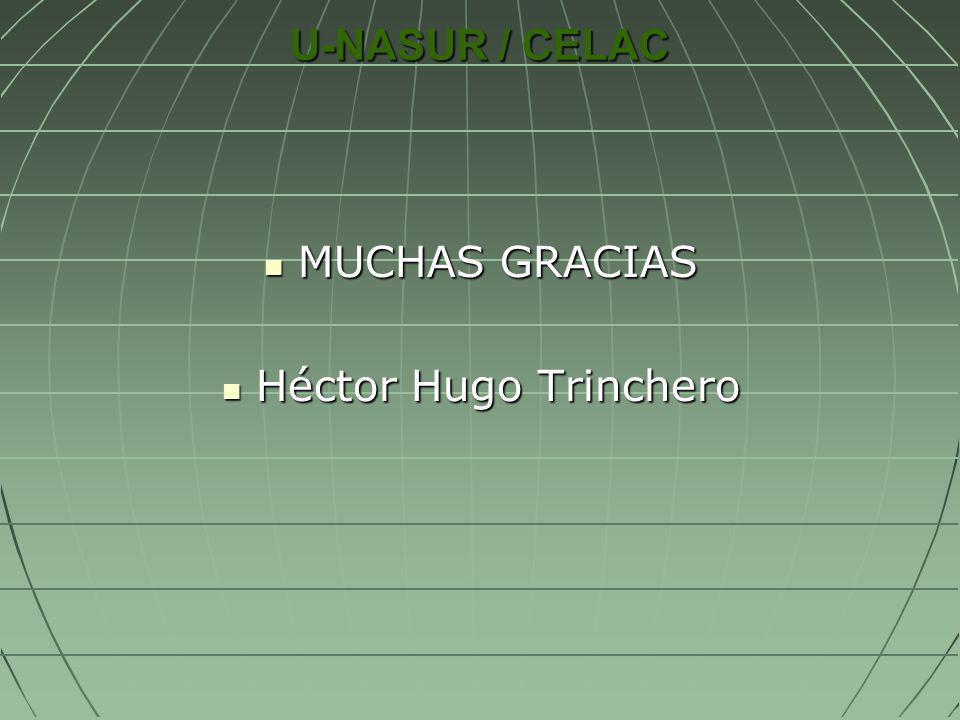 U-NASUR / CELAC MUCHAS GRACIAS Héctor Hugo Trinchero