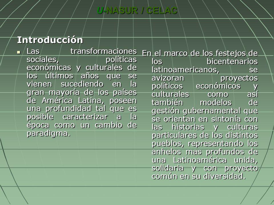 U-NASUR / CELAC Introducción