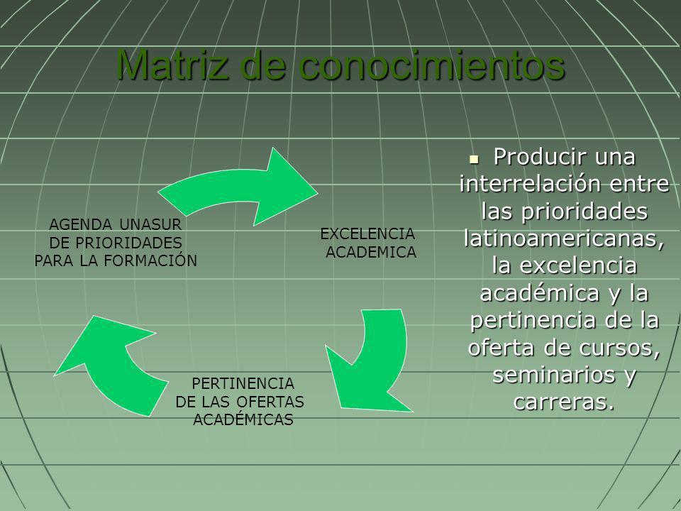 Matriz de conocimientos