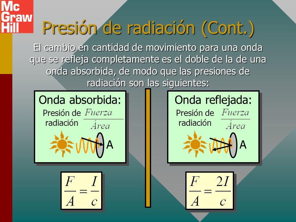 Presión de radiación (Cont.)