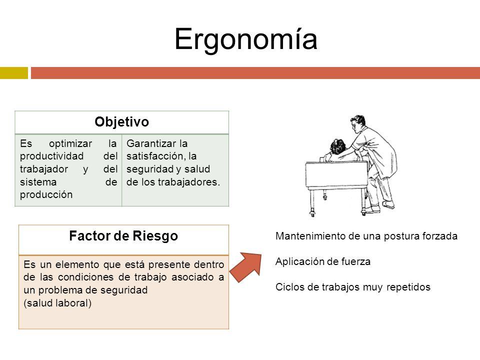 Ergonomía Objetivo Factor de Riesgo