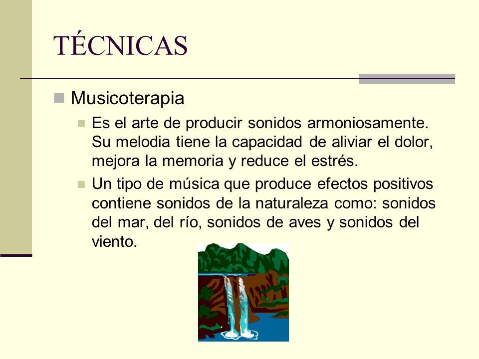 TÉCNICAS Musicoterapia
