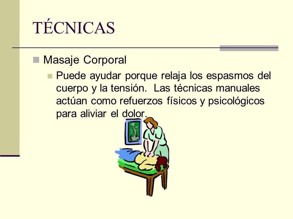 TÉCNICAS Masaje Corporal