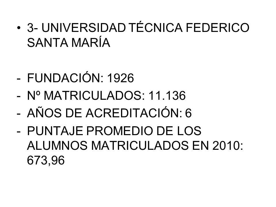 3- UNIVERSIDAD TÉCNICA FEDERICO SANTA MARÍA
