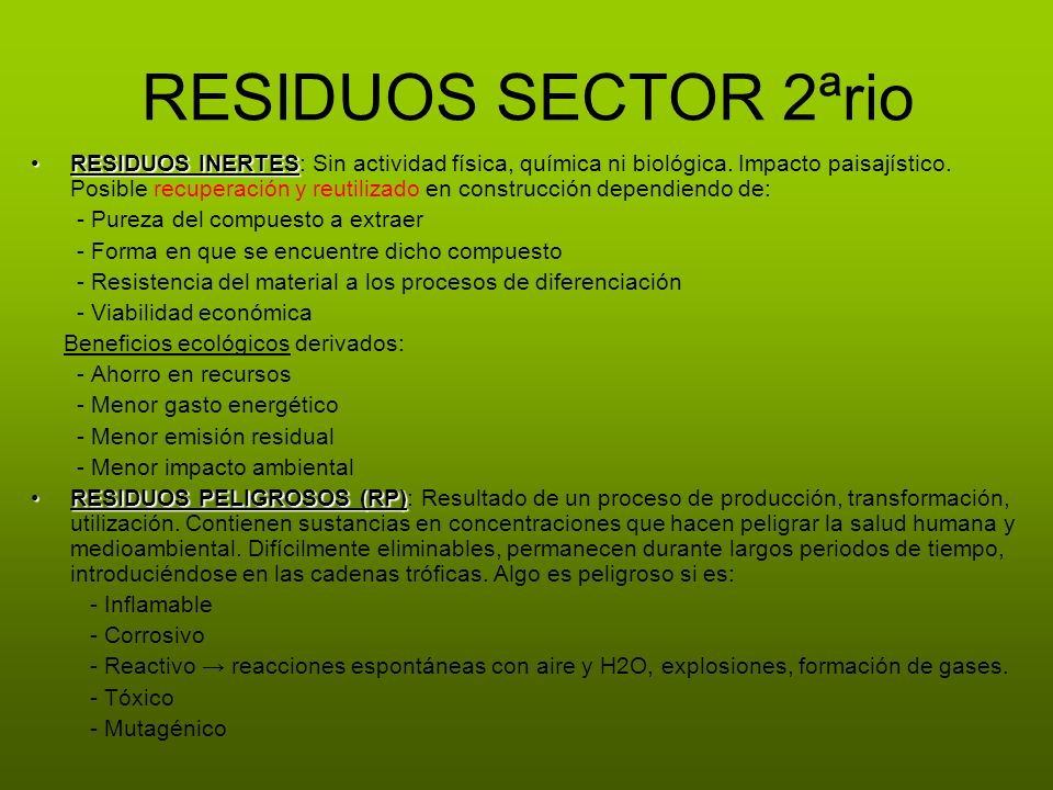 RESIDUOS SECTOR 2ªrio