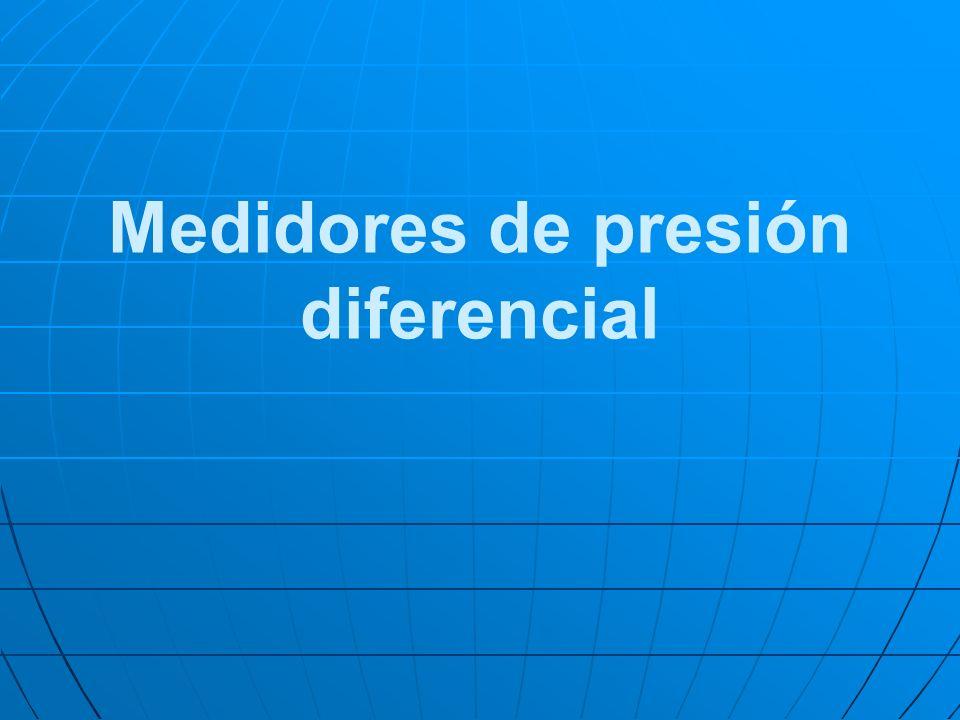 Medidores de presión diferencial