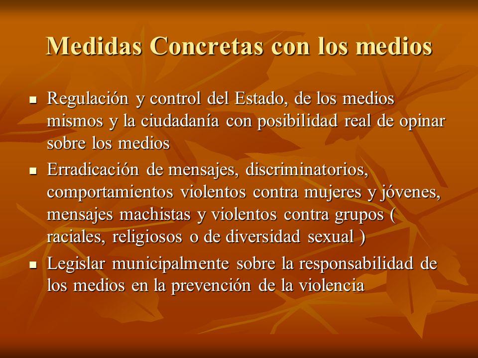 Medidas Concretas con los medios