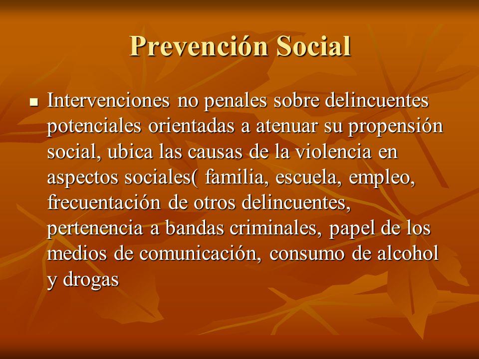 Prevención Social