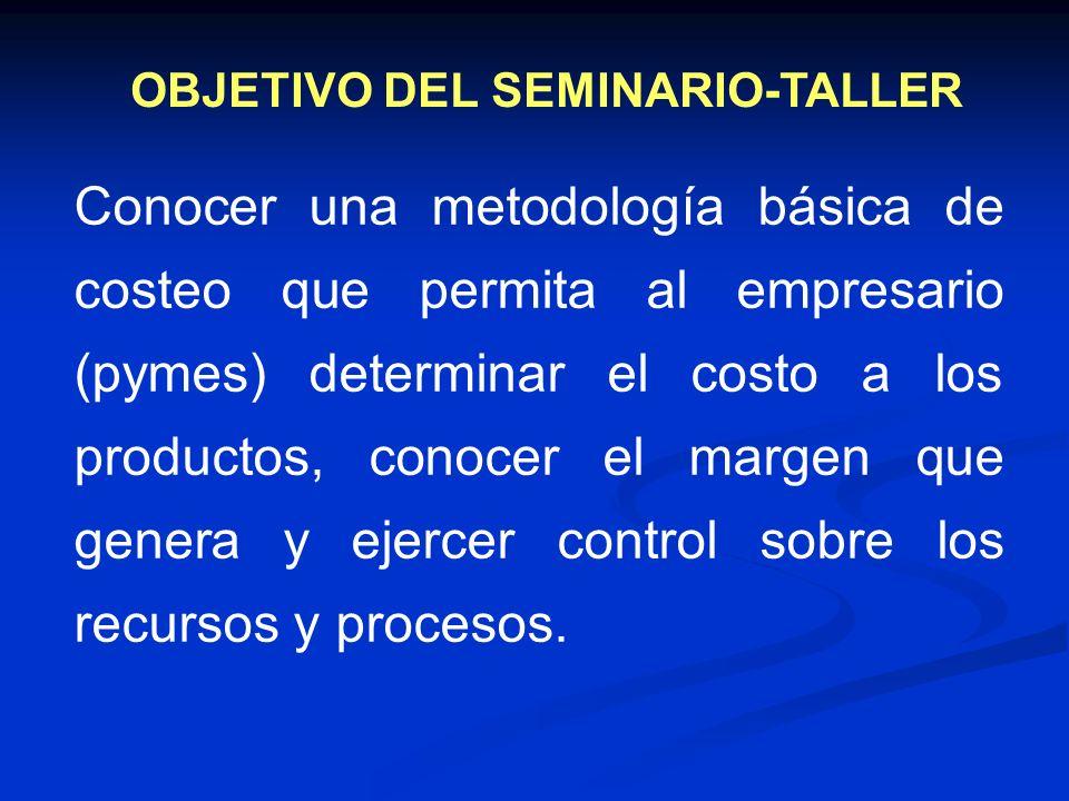 OBJETIVO DEL SEMINARIO-TALLER