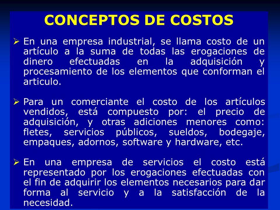 CONCEPTOS DE COSTOS
