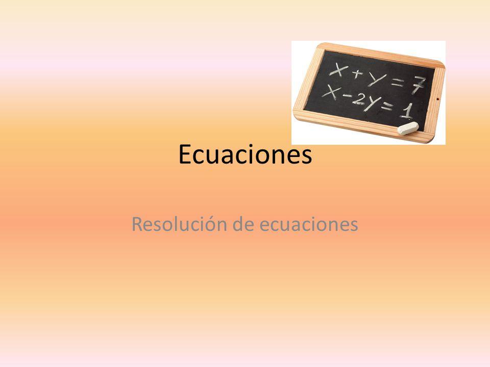 Resolución de ecuaciones