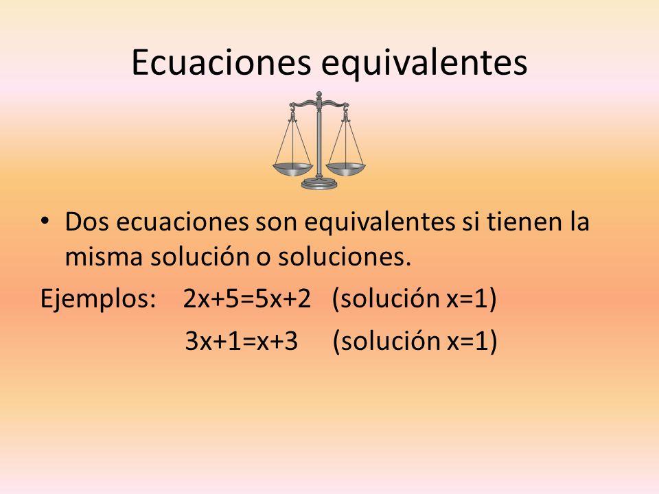 Ecuaciones equivalentes