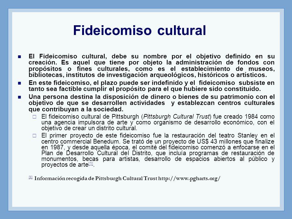 Fideicomiso cultural