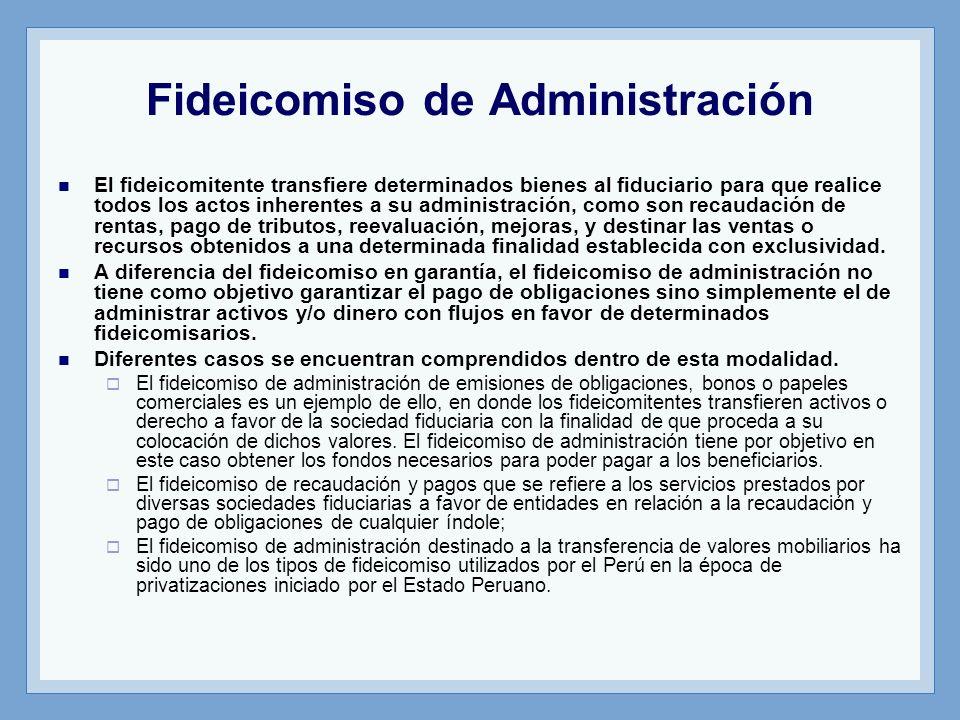 Fideicomiso de Administración