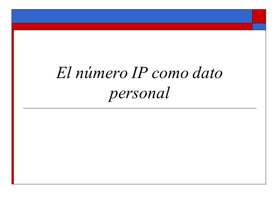 El número IP como dato personal