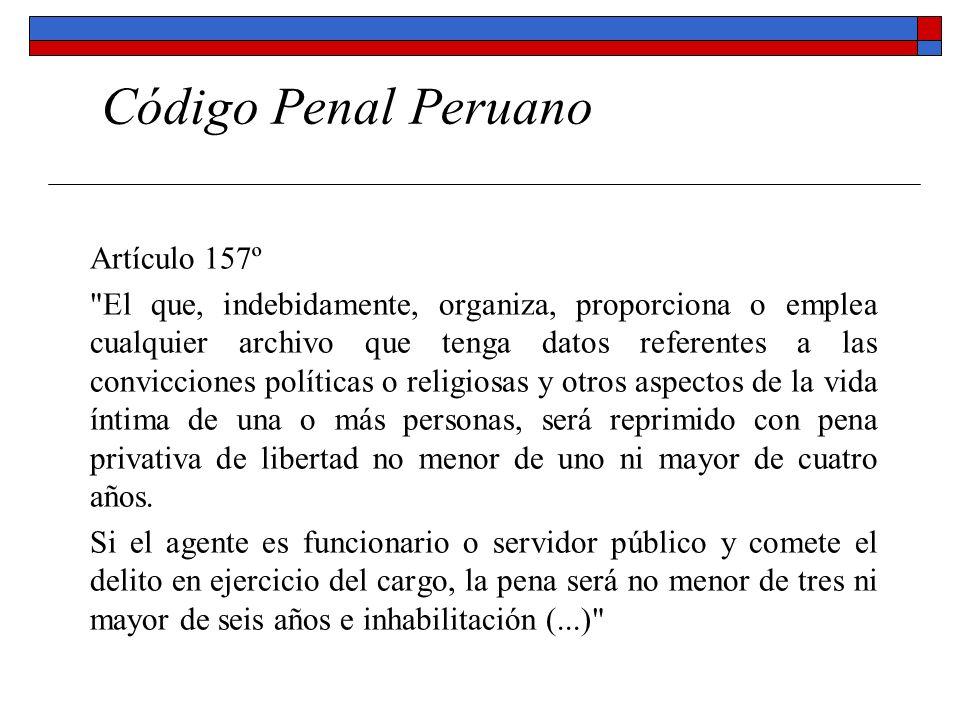 Código Penal Peruano Artículo 157º