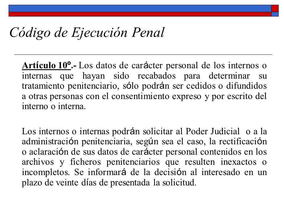 Código de Ejecución Penal