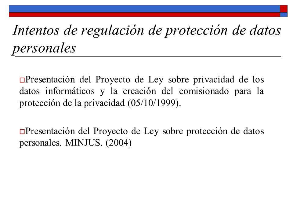 Intentos de regulación de protección de datos personales