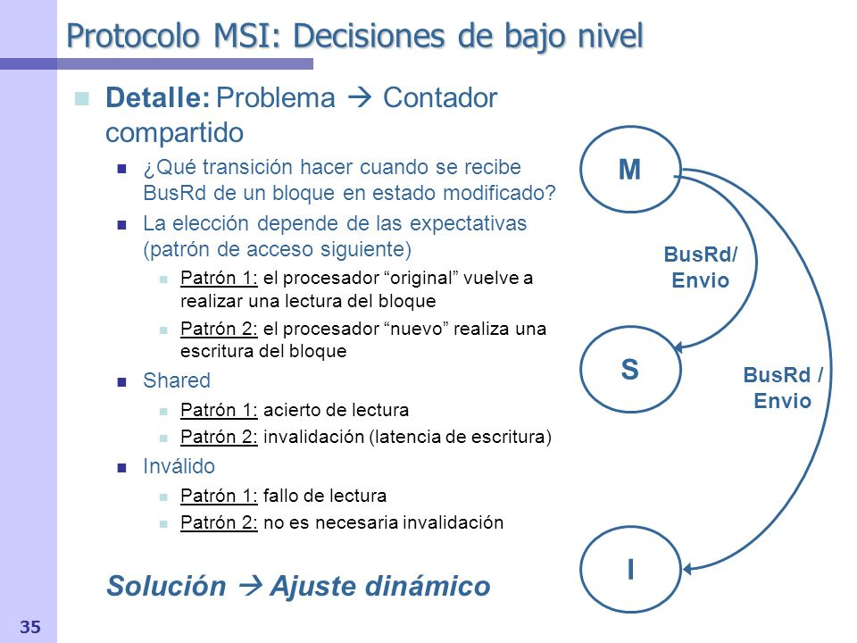 Protocolo MSI: Decisiones de bajo nivel