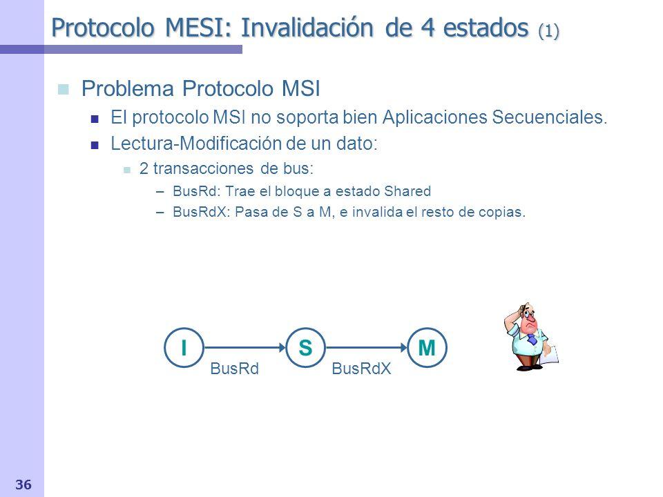 Protocolo MESI: Invalidación de 4 estados (1)