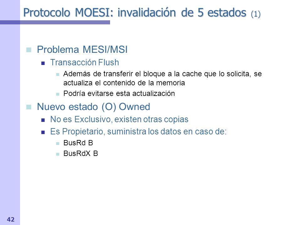 Protocolo MOESI: invalidación de 5 estados (1)