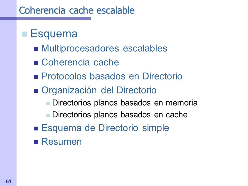 Coherencia cache escalable
