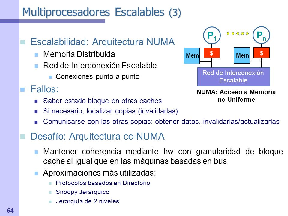 Multiprocesadores Escalables (3)