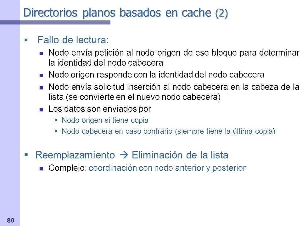 Directorios planos basados en cache (2)