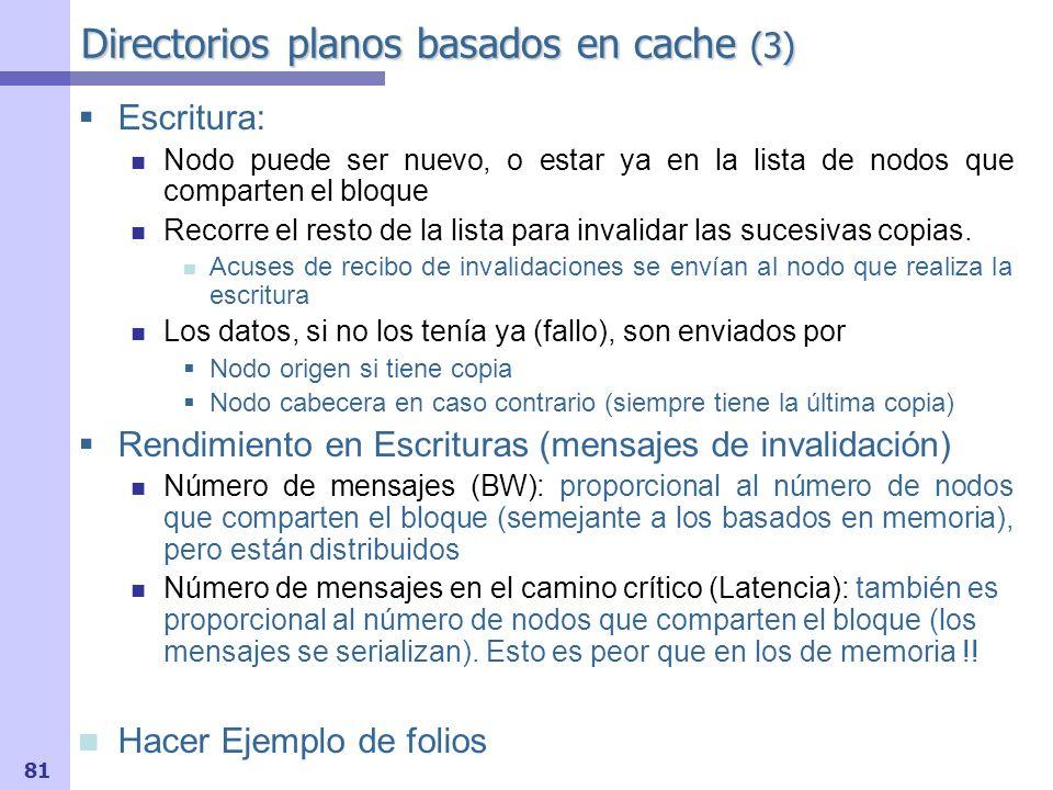 Directorios planos basados en cache (3)
