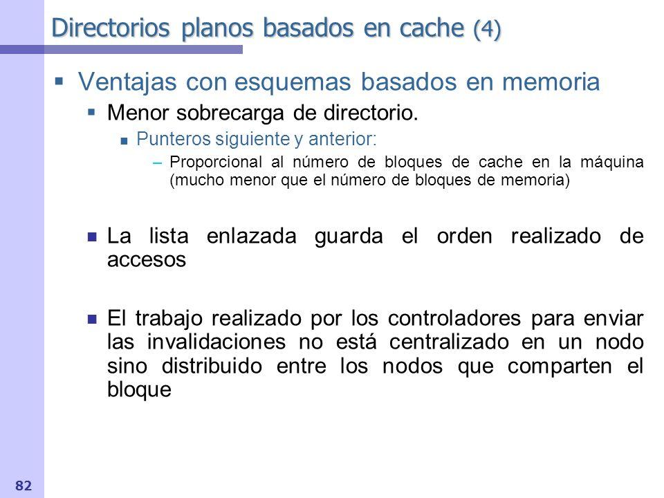Directorios planos basados en cache (4)