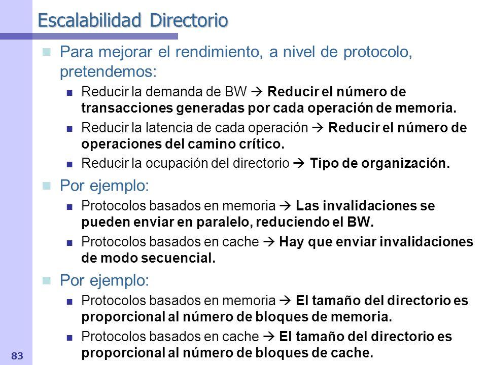 Escalabilidad Directorio