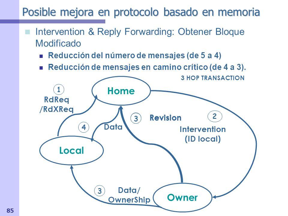 Posible mejora en protocolo basado en memoria
