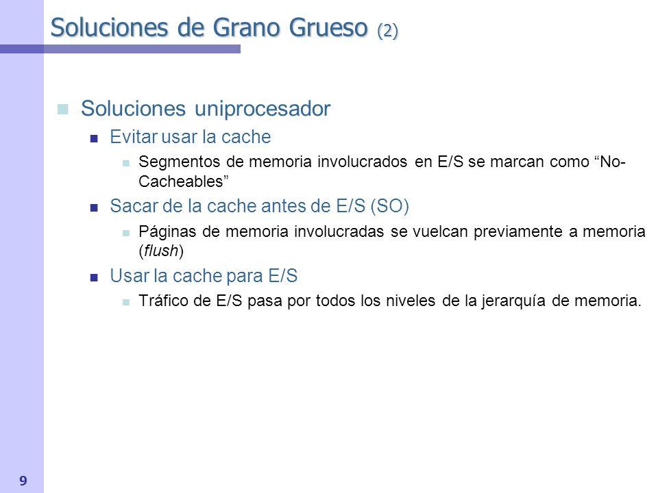 Soluciones de Grano Grueso (2)