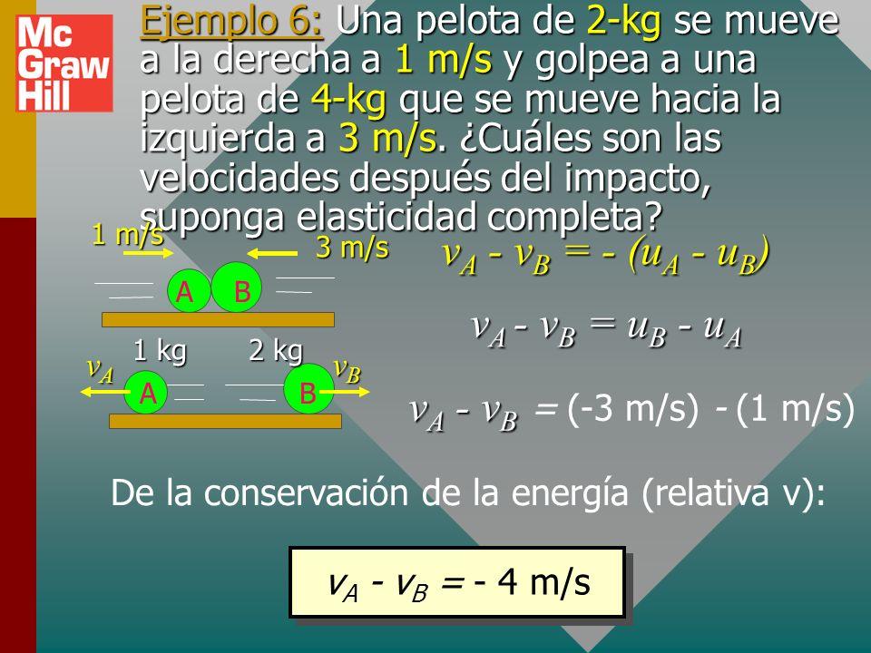 De la conservación de la energía (relativa v):
