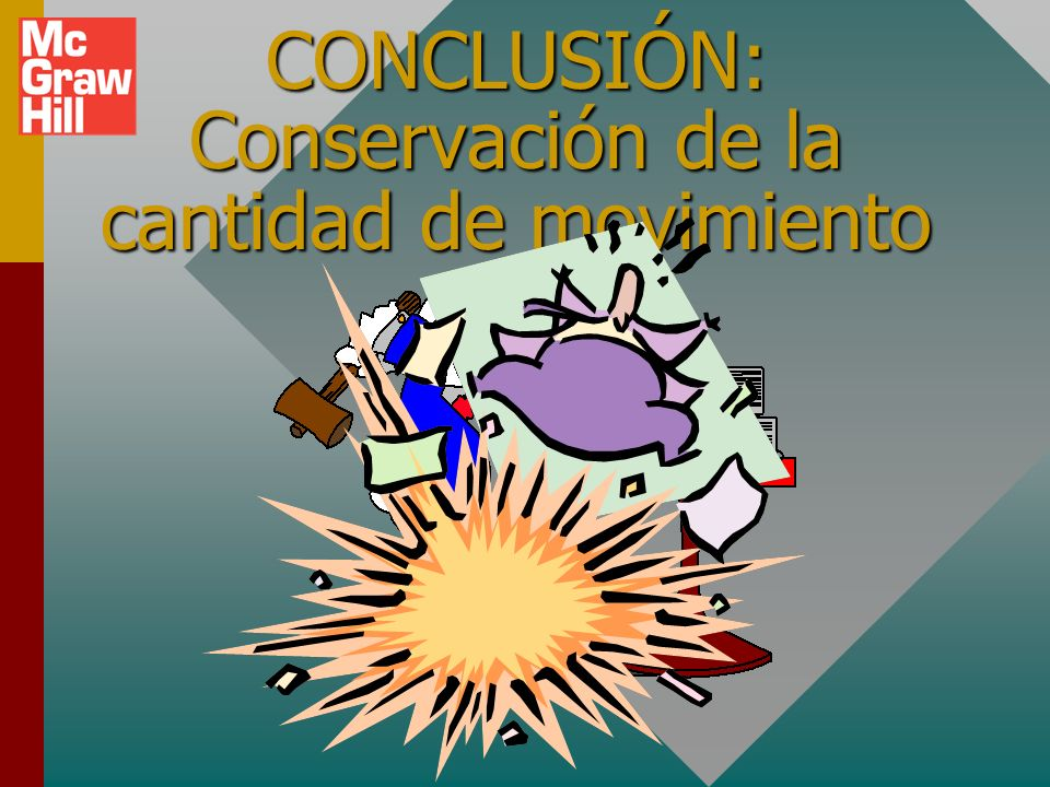 CONCLUSIÓN: Conservación de la cantidad de movimiento