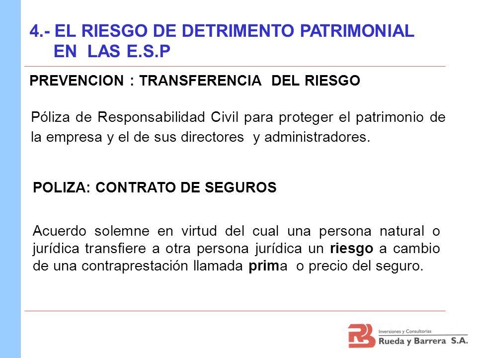 PREVENCION : TRANSFERENCIA DEL RIESGO