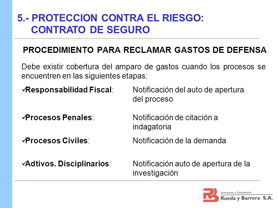 PROCEDIMIENTO PARA RECLAMAR GASTOS DE DEFENSA