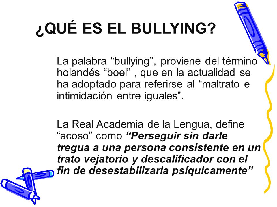 bullying o acoso escolar ppt descargar