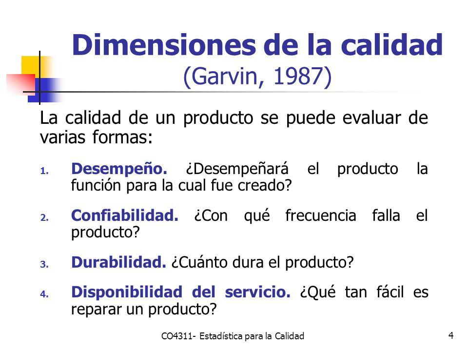 Dimensiones de la calidad (Garvin, 1987)
