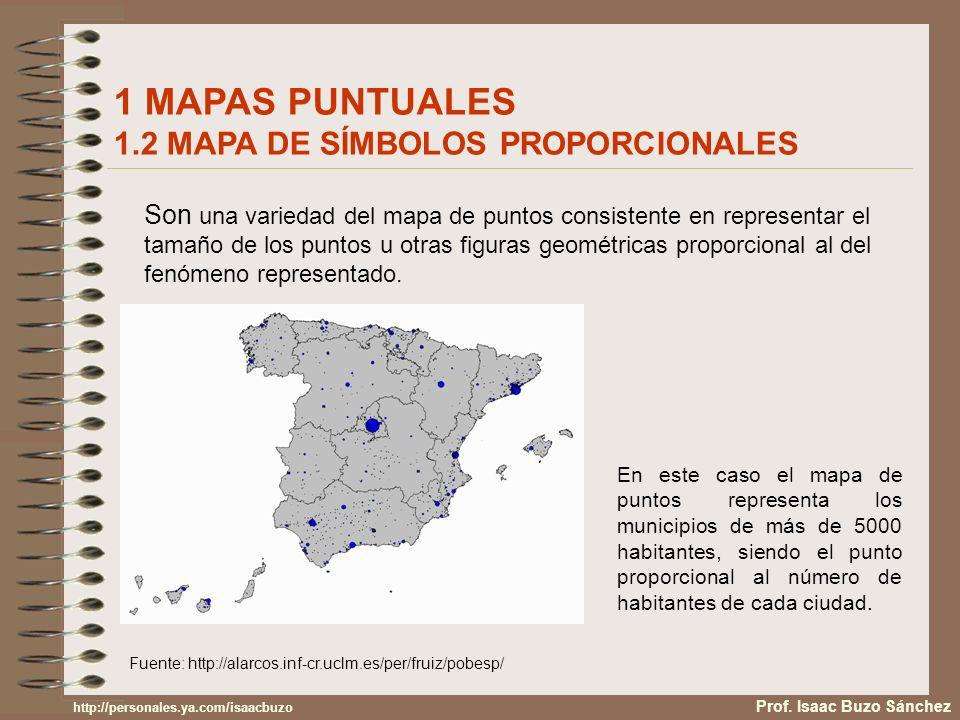 1 MAPAS PUNTUALES 1.2 MAPA DE SÍMBOLOS PROPORCIONALES