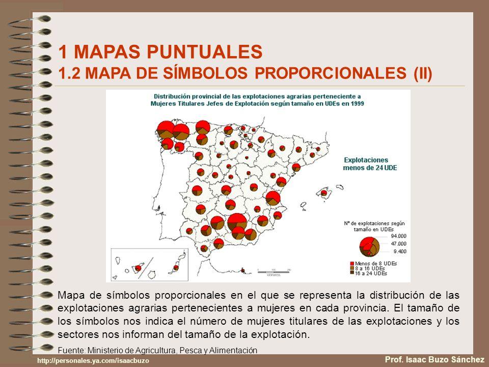 1 MAPAS PUNTUALES 1.2 MAPA DE SÍMBOLOS PROPORCIONALES (II)