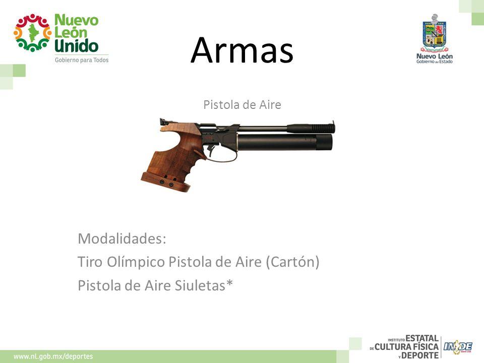 Armas Modalidades: Tiro Olímpico Pistola de Aire (Cartón)
